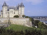 Saumur chateau - looking along the Loire river